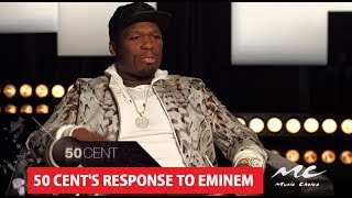 50 Cent Reaction To Eminem BET Cypher For Donald Trump At Hip Hop Awards