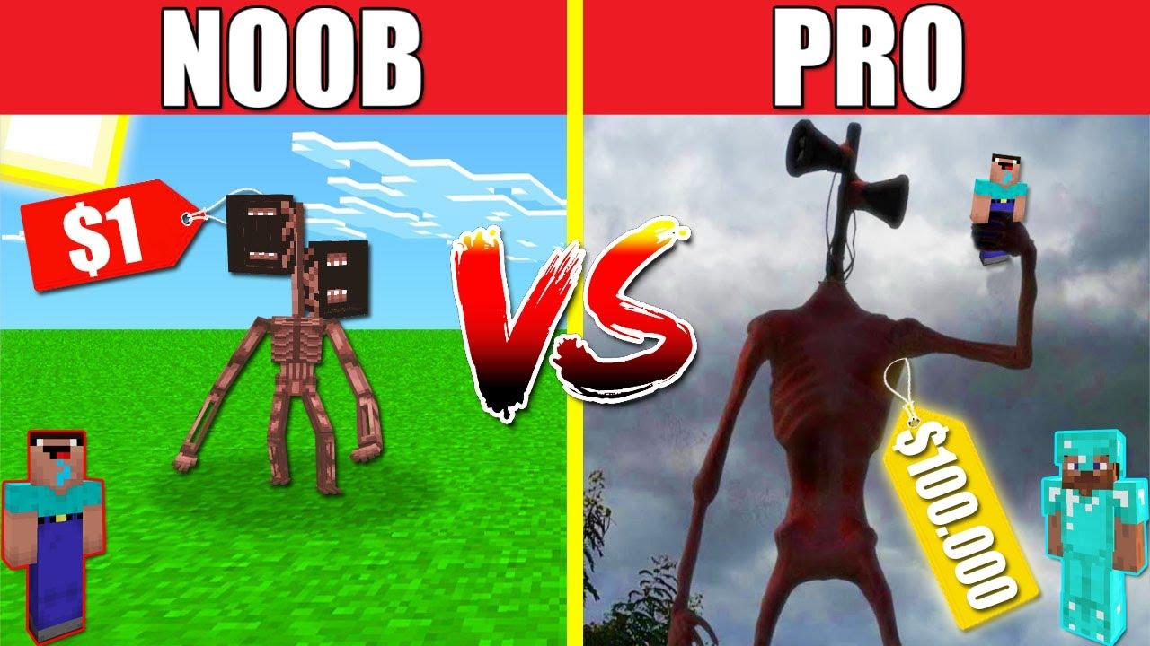 POOR SIREN HEAD VS RICH SIREN HEAD HOUSE BUILD CHALLENGE NOOB vs PRO vs HACKER vs GOD Minecraft
