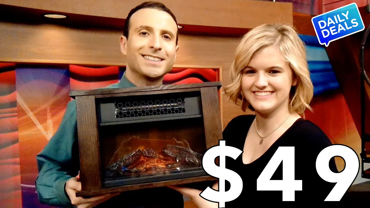 Electric Fireplace Heater Sale ? The Deal Guy - YouTube
