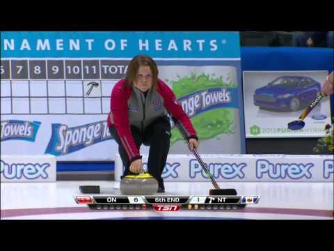 2013 Scotties Tournament Of Hearts Homan (ON) vs. Galusha (NT) - Draw4