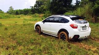 Subaru xv in mud