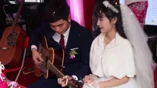 Chú rể đàn tặng cô dâu trong lễ thành hôn - Guitar Văn Chương   sáo trúc Văn Thiện