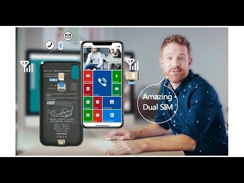 Dual SIM Case For IPhoneX/XS/XR/XS MAX Available 2SIM Online At The Same Time Connect By Bluetooth.