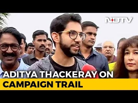 """You Are NDTV 24x7, We Work 24x7"": Aaditya Thackeray Campaigns In Worli"