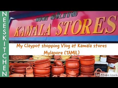 Organic cookware shopping - Claypot shopping haul at Kamala stores Mylapore, Chennai