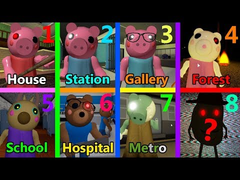 ROBLOX PIGGY ALL ENDINGS CH1-CH7!! What Will Happen To Bunny In Piggy Chapter 8?