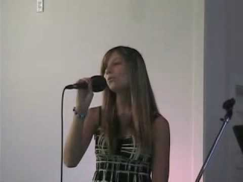 Madison singing at Knotts Church of Reflections