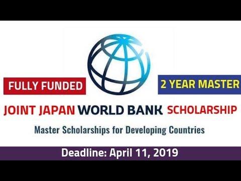 World Bank Scholarship for Pakistan & Indian 2019-20 || Joint Japan World Bank Scholarship Master