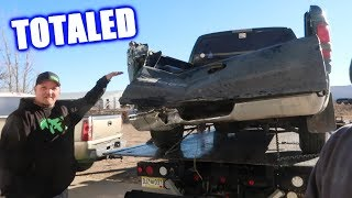 Brent's $600 Truck Got Totaled! (More Progress on the Shop)
