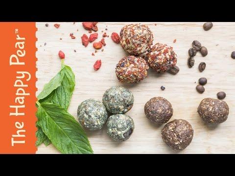 Super Energy Balls 3 ways - The Happy Pear Recipe