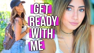 Get Ready With Me!! Back to School Makeup & Outfit Idea!!