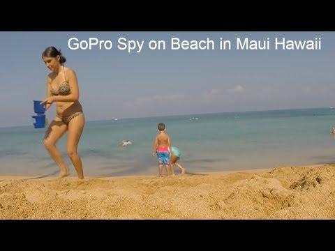 Spying GoPro on Maui Beach