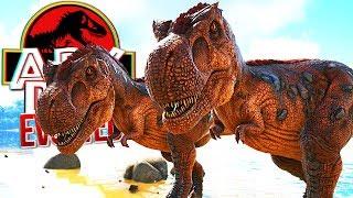 Download Video ARK Dino Evolved - Família Tiranossauro Rex, Caçando Em Dupla! | Dinossauros (#14) (PT-BR) MP3 3GP MP4