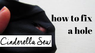 Fix a hole in leggings - Sew shut a rip in tights - Easy hand sewing to fix holes and tears