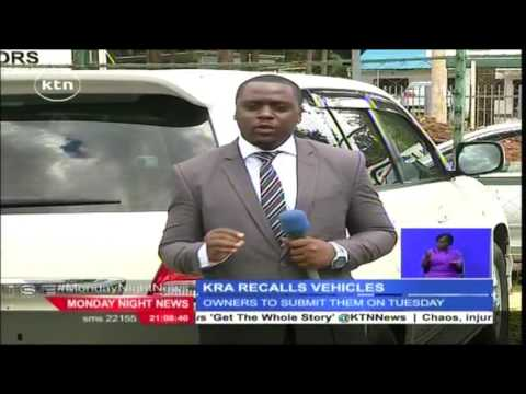 Six high-end luxury cars nabbed by KRA in Nairobi over tax evasion