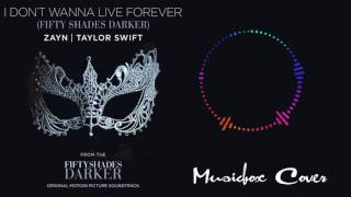 [Music box Cover] Zayn & Taylor Swift - I Don't Wanna Live Forever