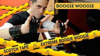 Scotch Tape Extreme Boogie Woogie Virtuoso Piano Player Ben Toury