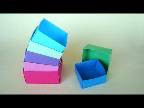 Origami box basteln mit Papier - Schachtel falten - Basteln Ideen - DIY - Geschenkverpackung machen