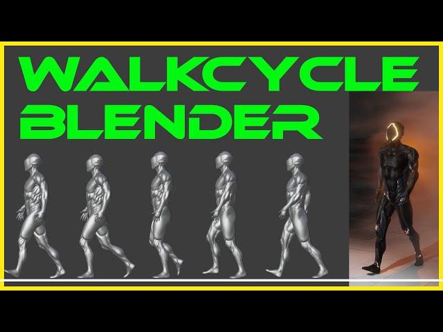 Blender-Tutorial  - Walk Animation -  Riggen mit Bones {Deutsch}