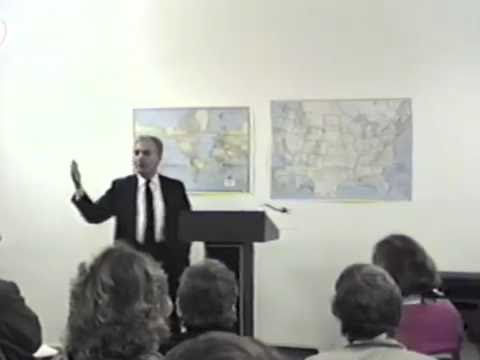 Fernando Zazueta lecture on Spanish-Mexican legal history at History Park, circa 1993