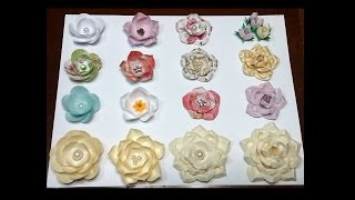 Paper flowers using circles
