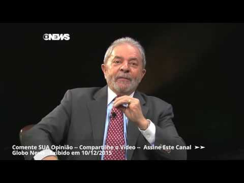 Lula - Dez/2015 - Roberto D'Avila Entrevista o ex-presidente Luiz Inácio Lula da Silva - Op. Zelotes