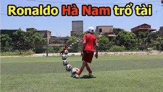 Thử Thách Bóng Đá với Quang Hải Nhí Ronaldo Hà Nam kỹ thuật cực đỉnh như Messi Hà Tĩnh PVF