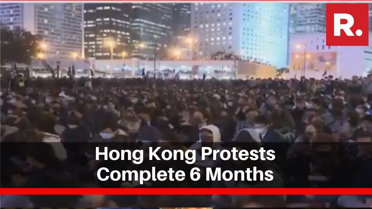 Hong Kong Protests Complete 6 Months, Protesters Come Out In Support Of Those In Jail