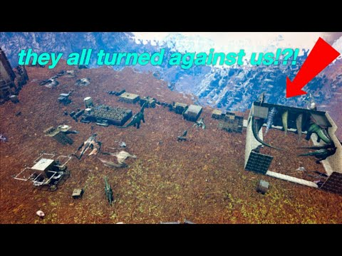 Ark: new official servers The entire server tried to raid/wipe us but the raid backfired!!!