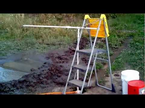 Cleaning out my well with a home built air-lift pump