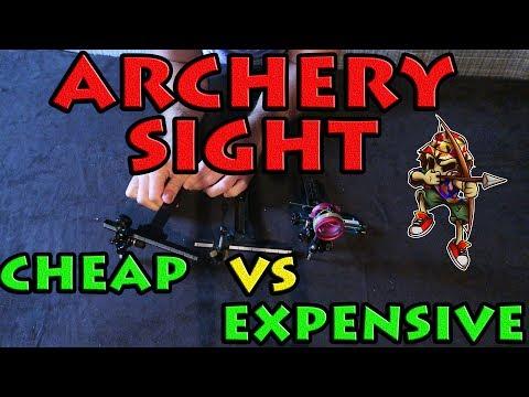 archery sight cheap vs expensive