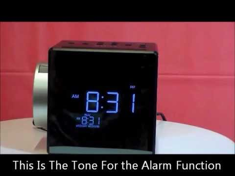 Sony Icf C1pj Projection Auto Set Dual Alarm Clock Radio W