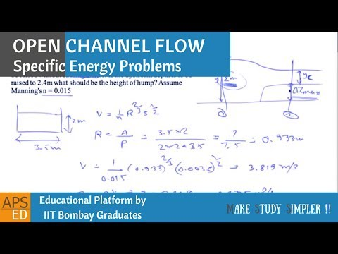 Specific Energy Problems | Open Channel Flow