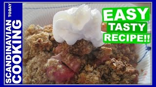 Strawberry Rhubarb Almond Crisp Dessert Recipe ☀️