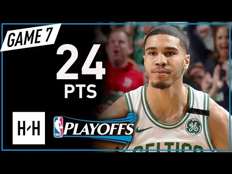 Jayson Tatum Full Game 7 Highlights vs Cavaliers 2018 Playoffs ECF - 24 Pts, POSTER on LeBRON!