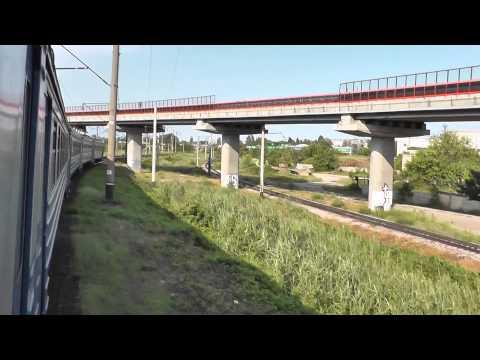 Из окна ЭР9Е-657 на Одессу по ЖД