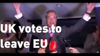 Brexit result: Nigel Farage calls June 23 the UK