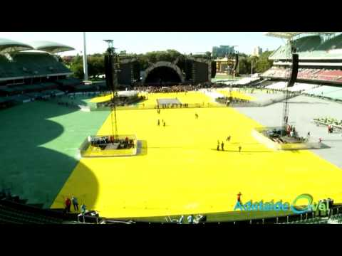 Adelaide Oval - From Cricket pitch to concert and back again