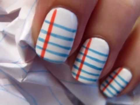 Back To School Nail Art - Back To School Nail Art - YouTube