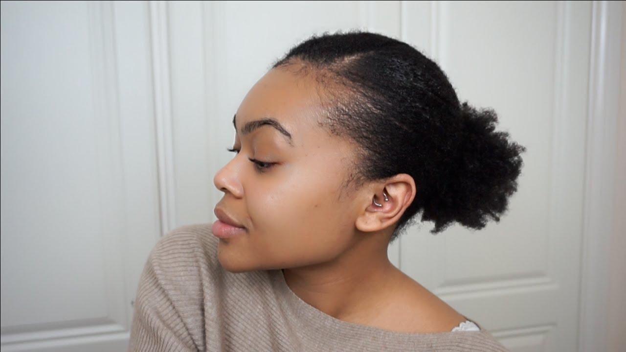 Sleek Low Puff Natural Hair