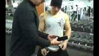 Dumbell Row w/ weightlifting hooks