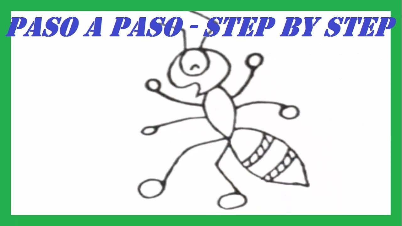 Como dibujar una Hormiga paso a paso l How to draw an Ant step by