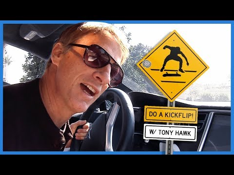 "Watch Legend Tony Hawk Yelling ""Do A Kickflip!"" At Skateboarders From His Car"