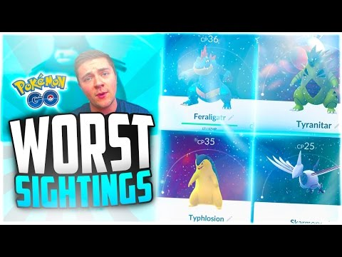 Pokemon Go - The Top 5 WORST Generation 2 Pokemon Go Sightings! (UNLUCKIEST Pokemon Go Fails!)