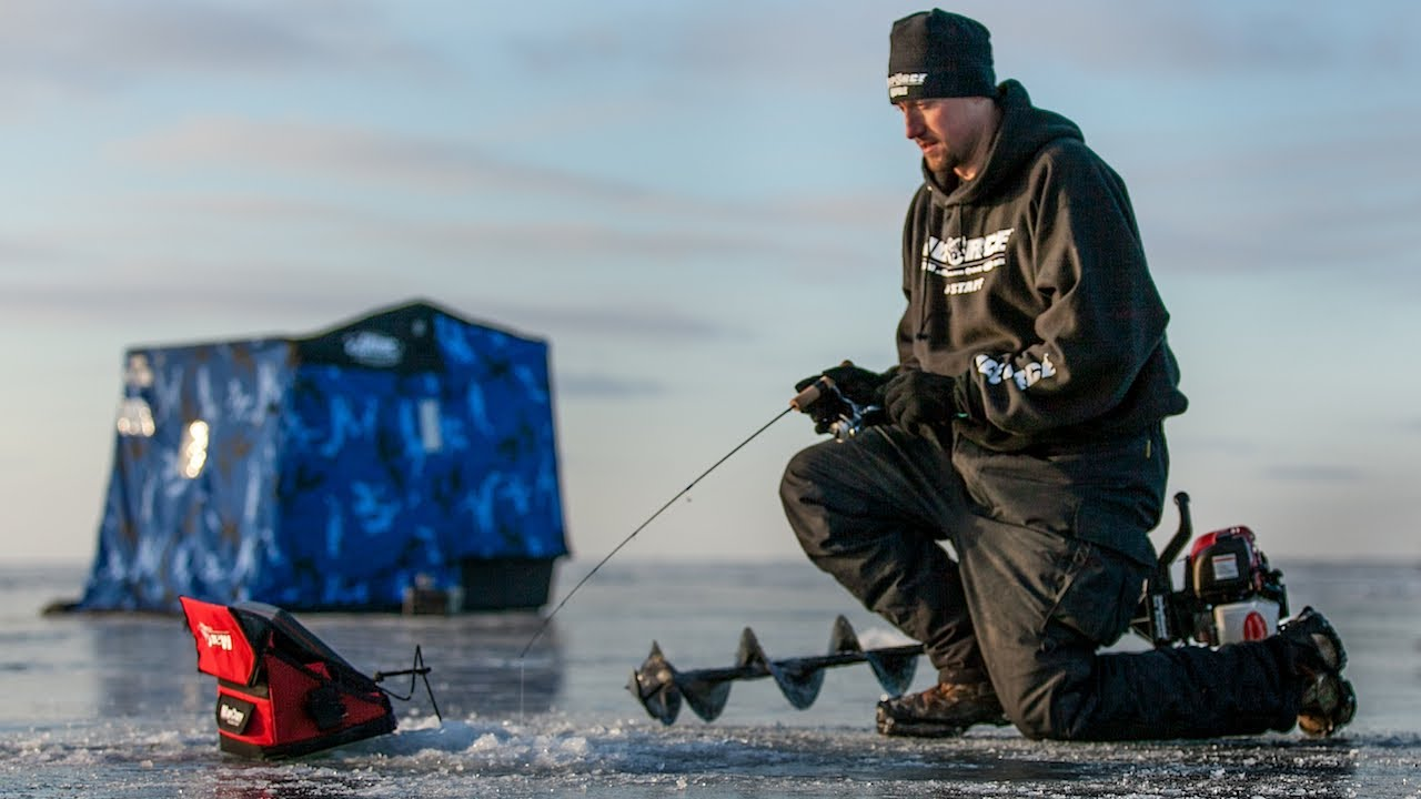 Early ice upper red lake walleyes in depth outdoors for Red lake ice fishing resorts