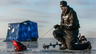 "Early Ice Upper Red Lake Walleyes -- ""In-Depth Outdoors"" TV, Season 7, Episode 5"