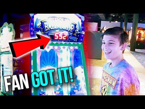 My Fan Got His Biggest Arcade Jackpot Ever! New Round 1 Arcade Peoria ArcadeJackpotPro