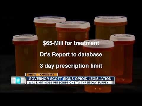 Gov. Scott signs law limiting painkiller prescriptions
