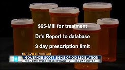 Gov. Scott signs law limiting painkiller prescriptions