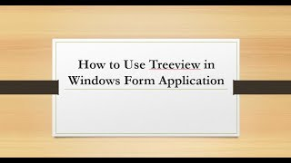 How to use treeview in c# windows form Application || E-Learning Portal